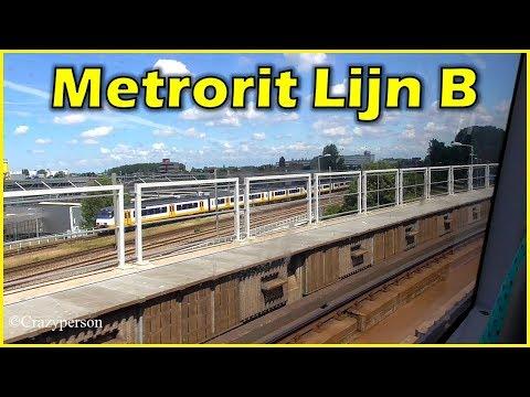Metro Ride Schiedam - Nesselande Rotterdam Line B