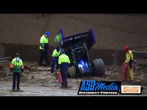 Sprintcars: Stuart Craig Massive Crash  Archerfield Speedway