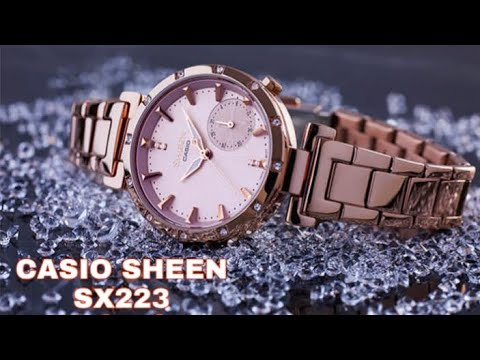 Casio Sheen SX223 (SHE-4051PG-4AUDF) Rose Gold Women Wrist Watch Unboxing & Review - In Hindi