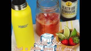 Healthy Human Strawberry Ginger Kombucha Mock