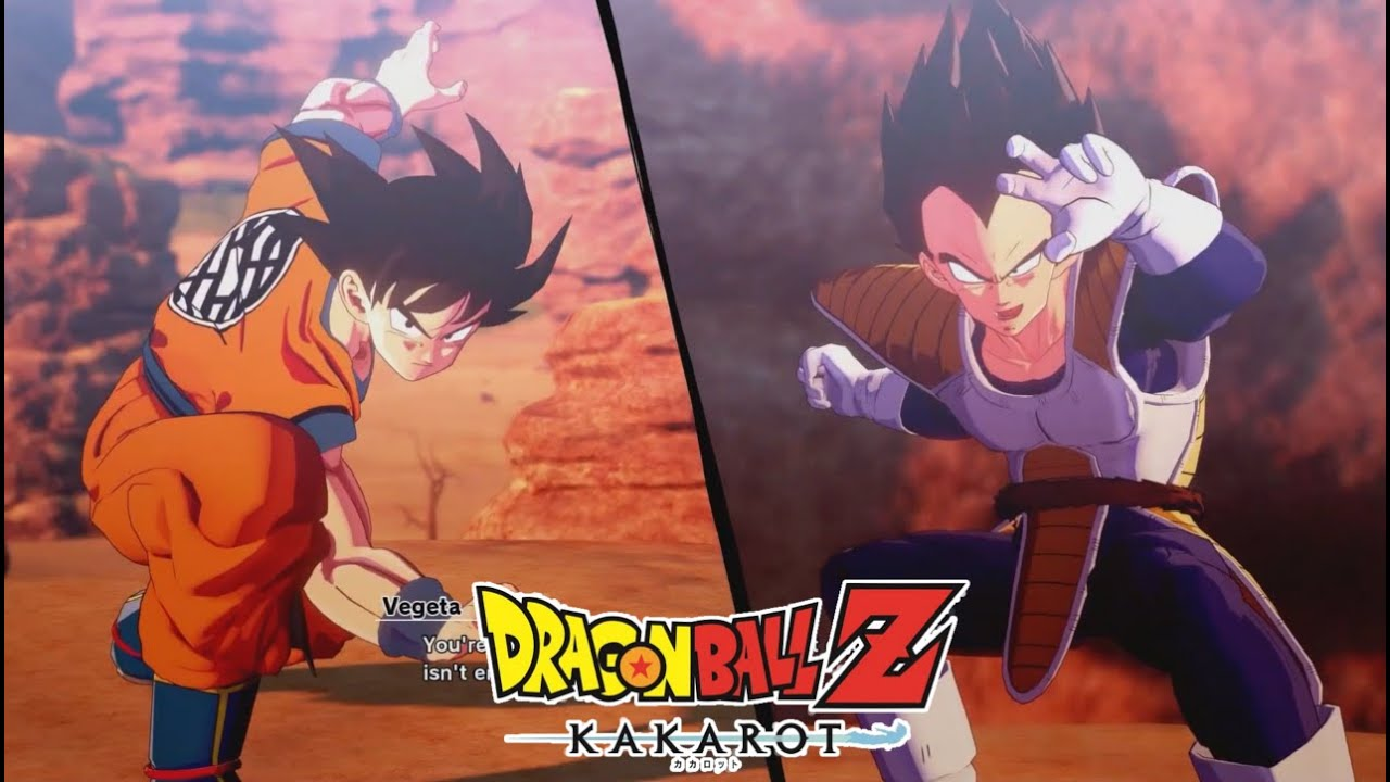 Dragon Ball Z Kakarot Goku Vs Vegeta Saga Saiyajin Full Gameplay Espectacular Youtube