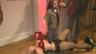 Guinness Records: World's shortest comedian stands on bed of nails record holder!