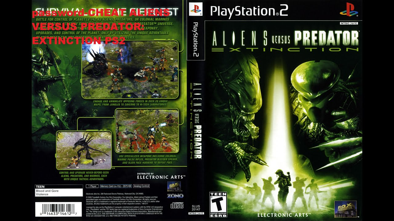 Aliens Vs Predator Gold Edition PC Cheats - Neoseeker