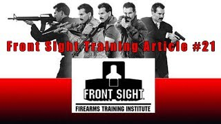 Front Sight Training Article #21-Why You Want To Train At Fron…