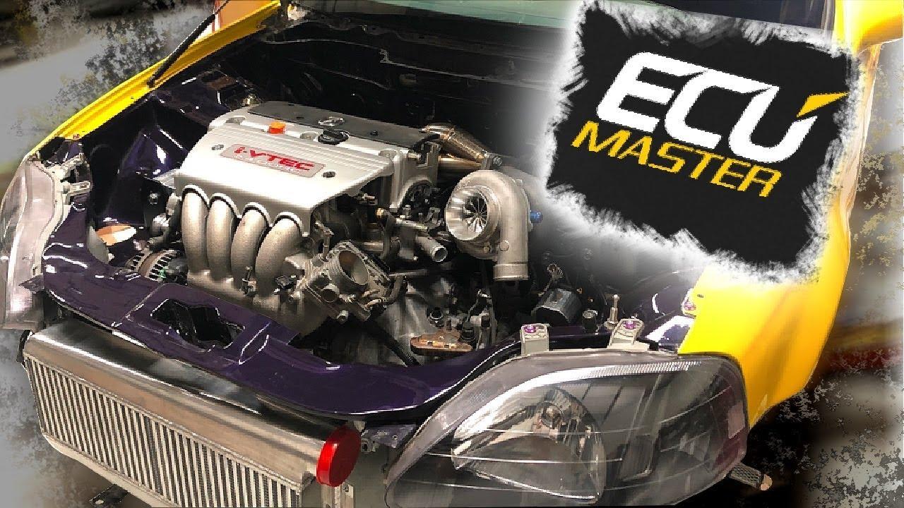 pt 4 | lambo killer build | 600hp awd turbo honda civic | ecu master  standalone ecu wiring!