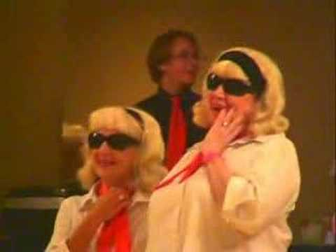 ELVIS SPOTTED AT TAMPA BAY LINE DANCE CLASSIC 2007!!: Proof that Elvis is still alive comes with this piece of film, showing him impersonating line dance personality Neville Fitzgerald! Assisting Elvis are four of Neville's seven world wide fans - co-choreographer Julie Harris, Tampa Bay Line Dance Classic organiser Arline Winerman, the famous Carol Craven (who, in addition to all her other recent deserved awards, is probably up for an Oscar or Emmy for this performance), and the one and only Diane Poole. (Video by Nigel Amon)