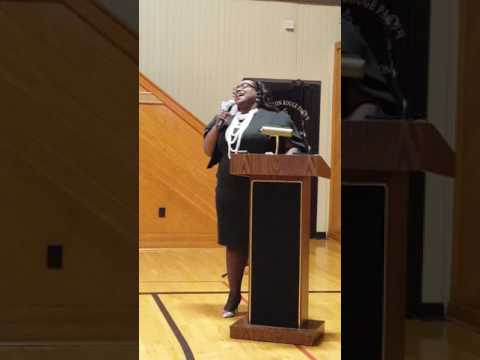 Apostle Stacey Woods sings Precious Lord