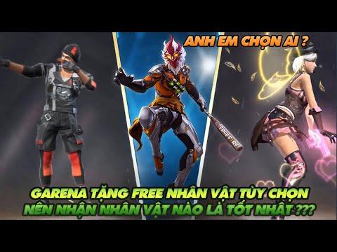 Free Fire  Garena tặng nhân vật Free nên chọn nhân vật nào để nhận thì tốt nhất  ???