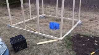 Day 1 Of building a chicken coop on the homestead with small budget ,not carpenter either