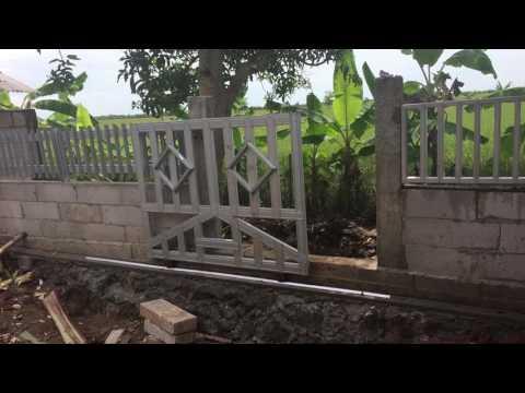 Pintu Gerbang Minimalis Dari Baja Ringan
