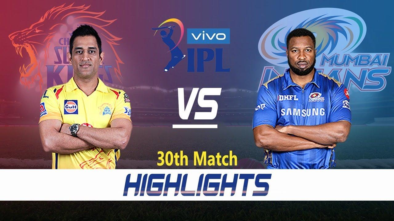 Chennai Super Kings vs Mumbai Indians Highlights   30th Match   Indian Premier League 2021