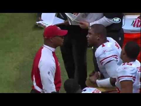 ★FUNNY★ Mike Singletary & QB Troy Smith Argument Shouts Let Loose on Sidelines