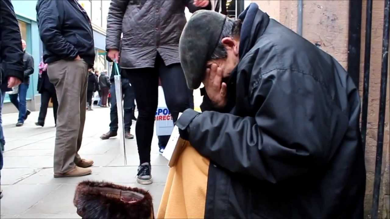 Anonymous makes a Homeless Man Cry! - YouTube