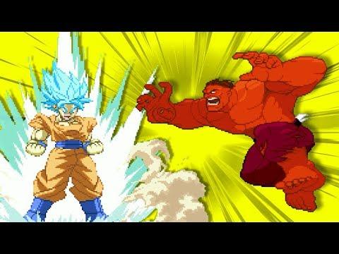 Goku VS Super Heroes