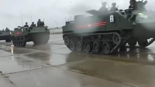 استعداد طواقم المعدات العسكرية للمشاركة في عرض عيد النصر