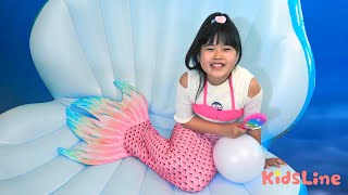 アイス屋さんごっこ 海の中で人魚にも届けたよ こうくんねみちゃん ice cream shop mermaid pretend play penjual es krim jualan mainan