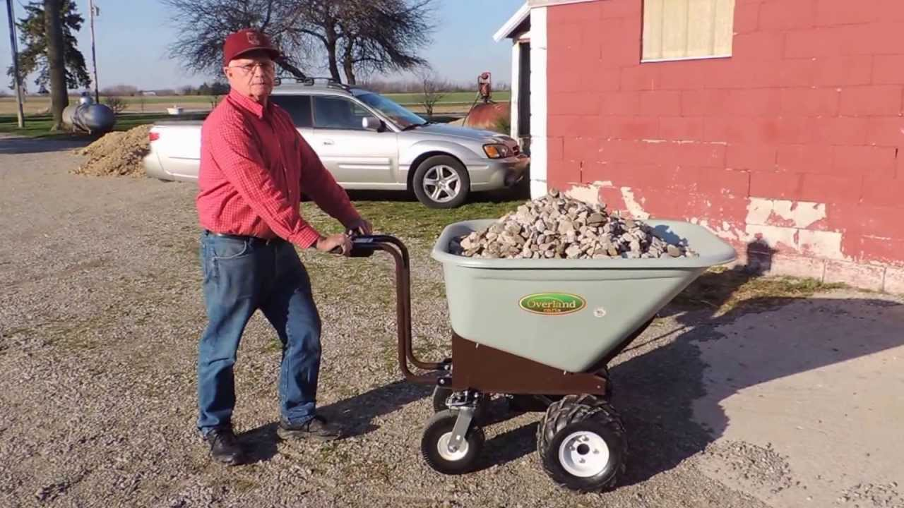 Electric Wheelbarrow Powered By Rechargeable Batteries