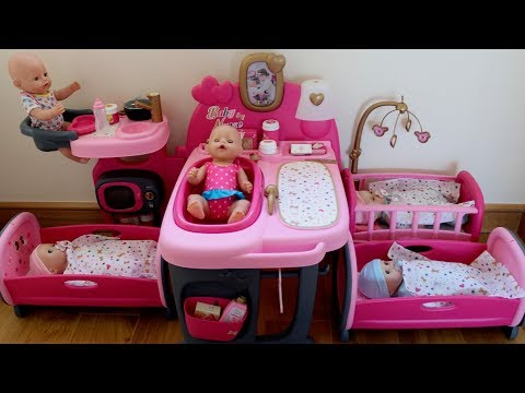 baby-born-baby-annabell-in-the-nursery-center-compilation,-pretend-play-with-baby-dolls
