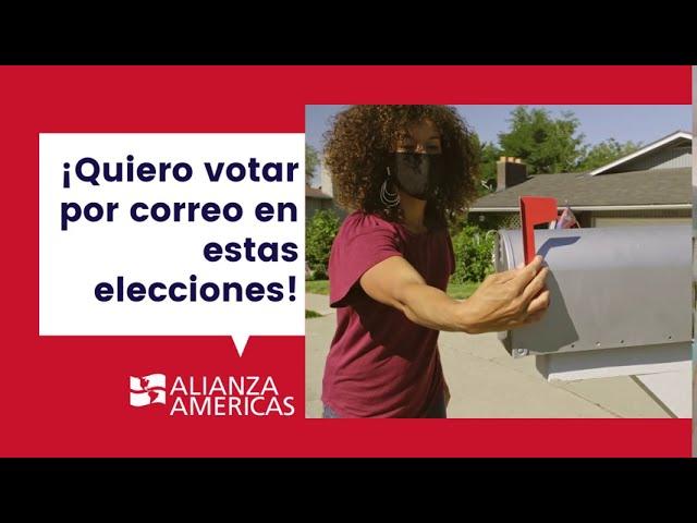 ¡Vote por correo! | Elecciones 2020