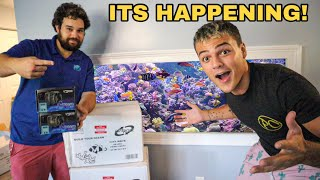 Building My FIRST SALTWATER REEF AQUARIUM!! (part 1)