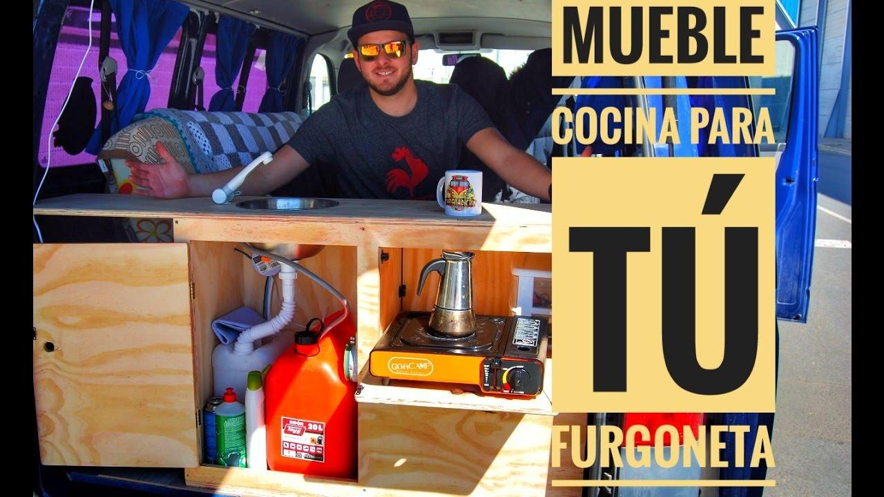 Mueble cocina para t furgoneta youtube for Mueble de cocina camping