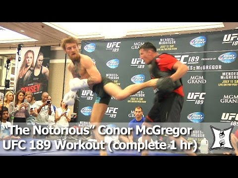 UFC 189: Conor McGregor's Complete Open Workout Before Interim FW Title Fight w/ Chad Mendes
