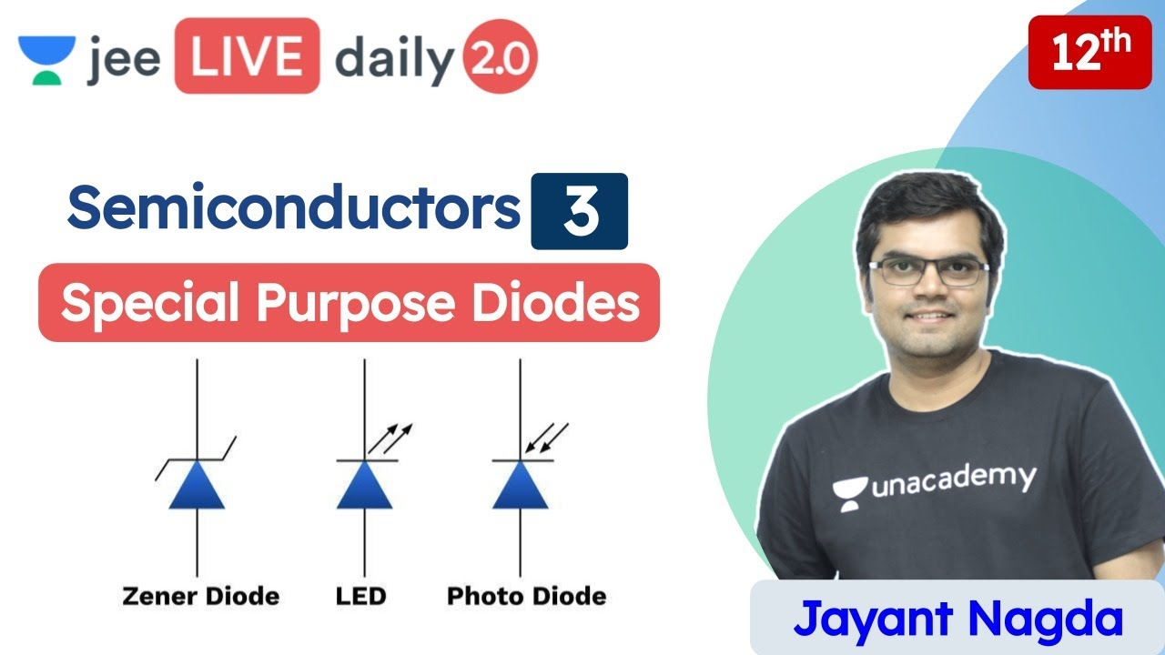 JEE: Semiconductors L3 | Diodes & their Applications | Unacademy JEE | JEE Physics | Jayant Nagd