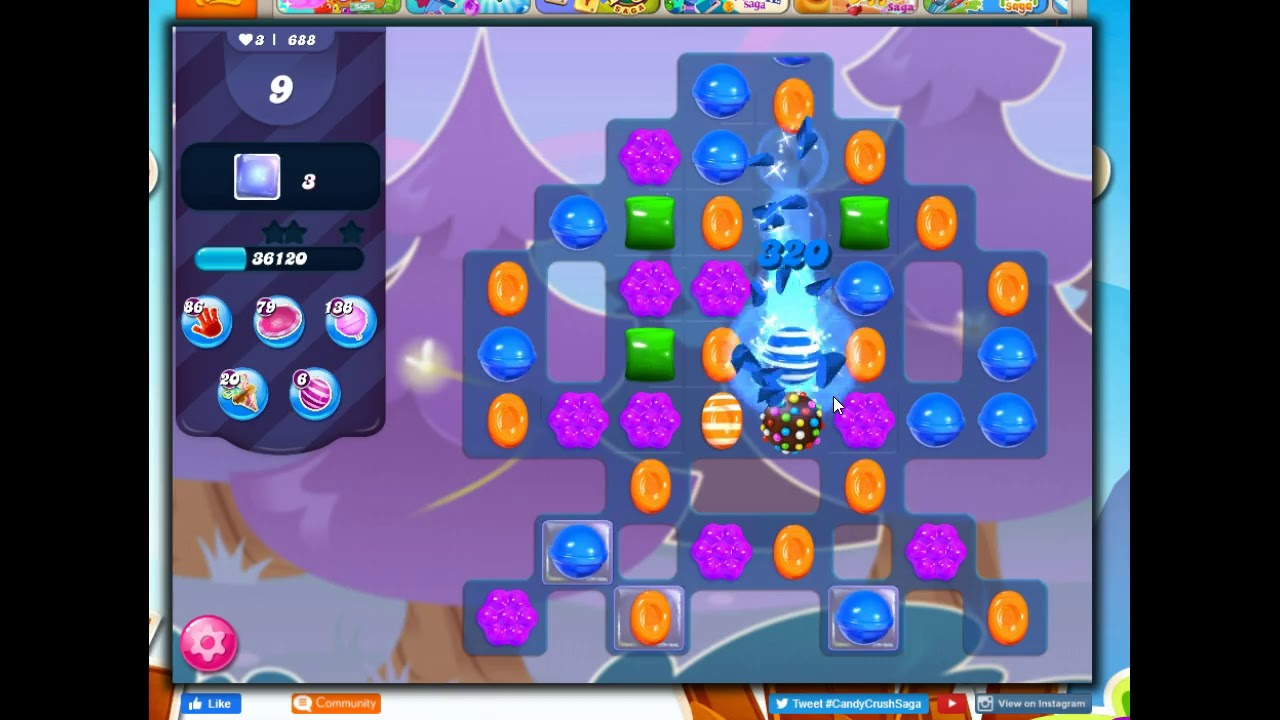 Candy Crush Level 688 Talkthrough 18 Moves 0 Boosters Youtube