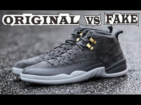 046fb7c4112 Nike Jordan 12 Retro Dark Grey Original & Fake