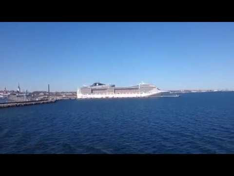 MSC Fantasia at Tallinn harbor 60FPS 1080P