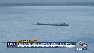Coast Guard working this weekend to free freighter stuck in Lake Erie ice