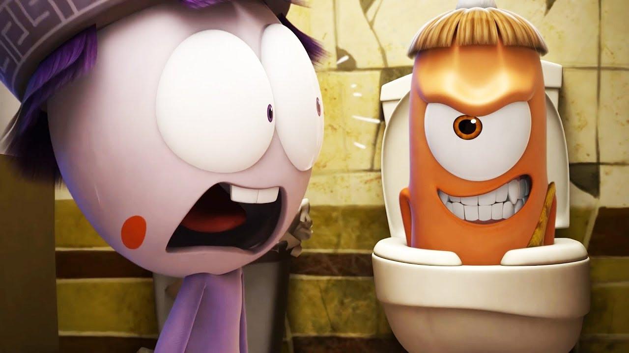 Spookiz toilet prank 스푸키즈 zombie cartoon kids cartoons
