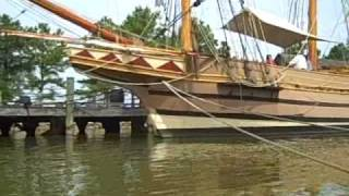 Jamestown ships - Susan Constant, Godspeed, and Discovery