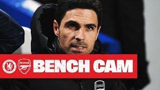 bENCH CAM  Mikel Arteta  Chelsea 2-2 Arsenal  Premier League