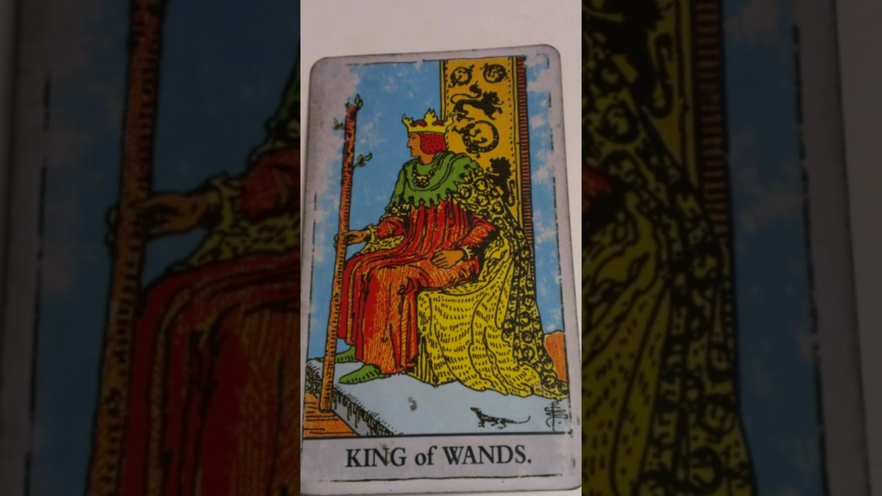 The King of Wands as Feelings in a Love Reading
