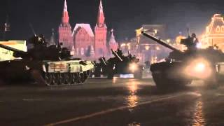 Parade Rehearsal in Red Square for 9 of May 2016. Moscow