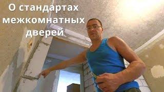 видео Размеры дверного полотна и проема
