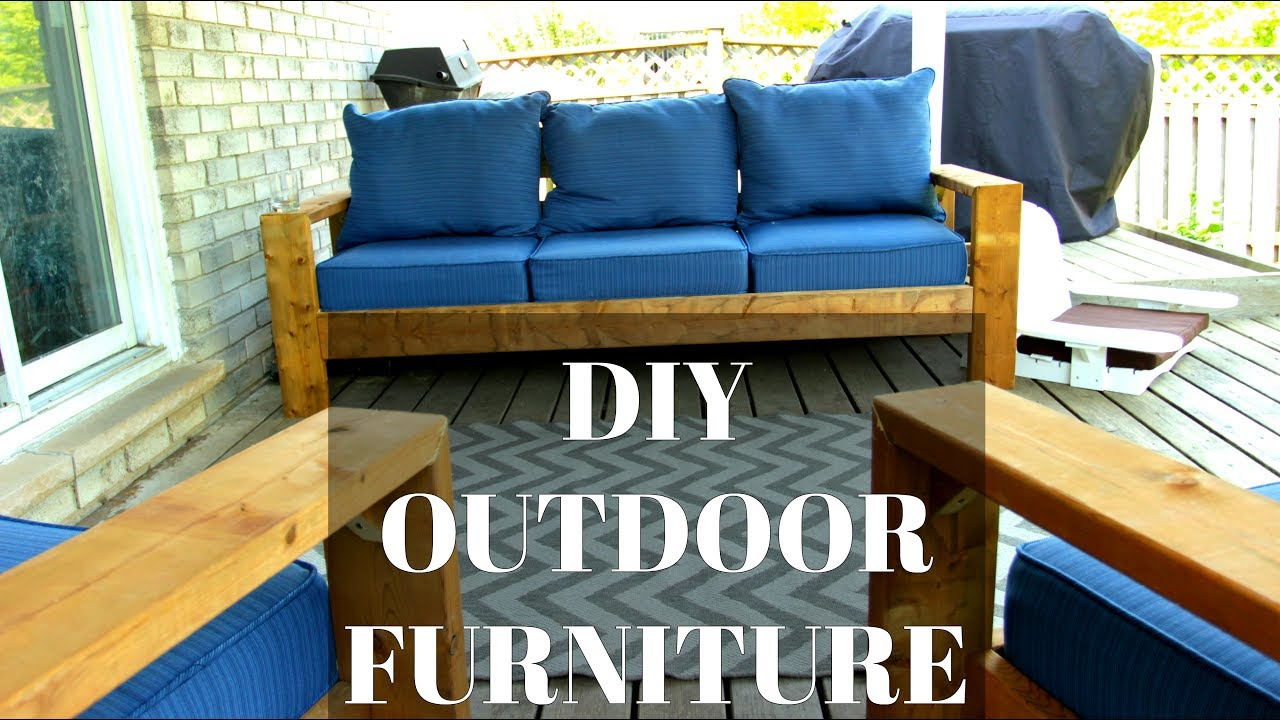 Diy Outdoor Couch Amp Chairs Cheap Amp Easy Hack Youtube