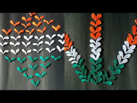 DIy paper craft / how to make Paper Birds / make tri colour birds for Independence / Republic Day