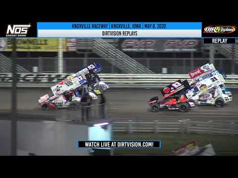 DIRTVision Replays from Knoxville Raceway in Knoxville, Iowa on May 8th, 2020- World of Outlaws NOS Energy Drink Sprint Car Series. - dirt track racing video image