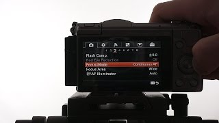 sony a5100 menu settings for vlogging tubenoob