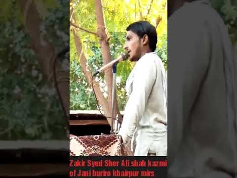 Zakir Syed Sher Ali Shah Kazmi Masaib Bb Fatima Zahara