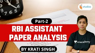 RBI Assistant Paper Analysis (Part 2)   By Krati Ma'am