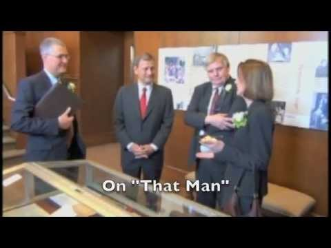 Chief Justice Roberts Tour of Robert H. Jackson Center (2013)
