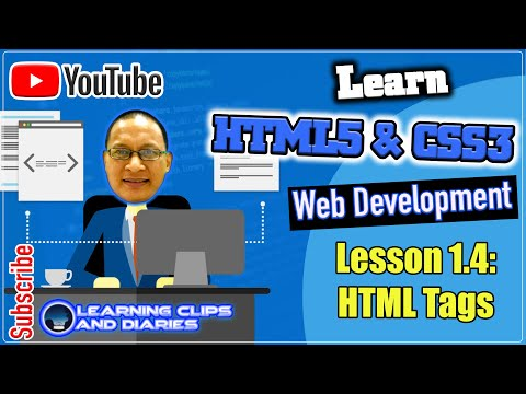 Learn HTML5 Cluster 6 - Section1.4 HTML Tags