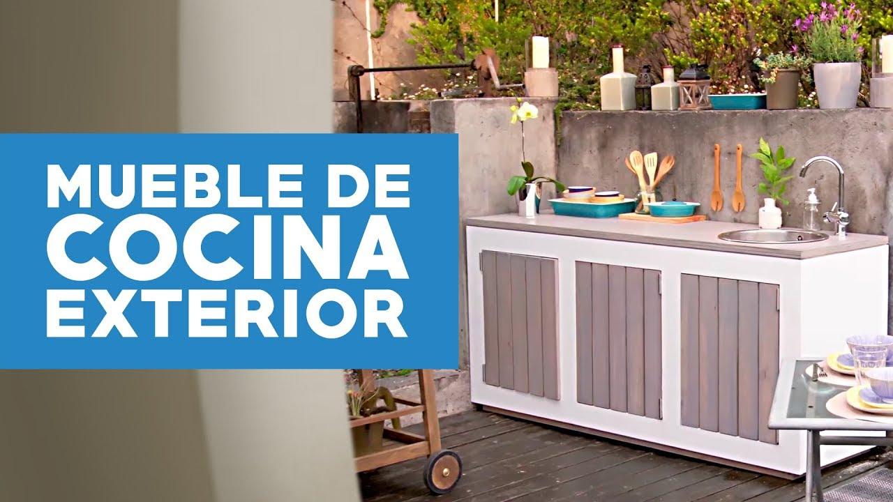 c mo hacer un mueble de cocina exterior youtube