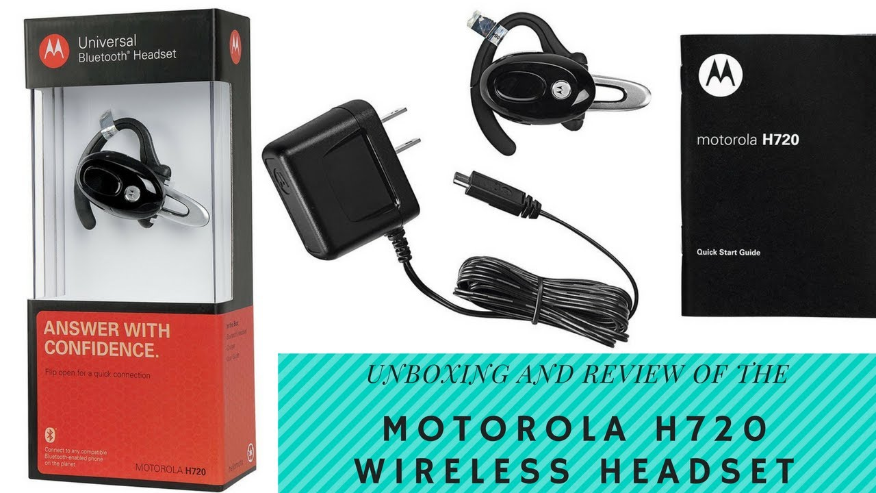 Motorola H720 Wireless Bluetooth Headset Unboxing And Product Review Youtube