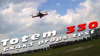 DutchRC - HobbyKing Totem Q330 quad - 3-bladed props test!
