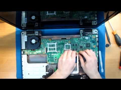 Как разобрать ноутбук Asus K72DR