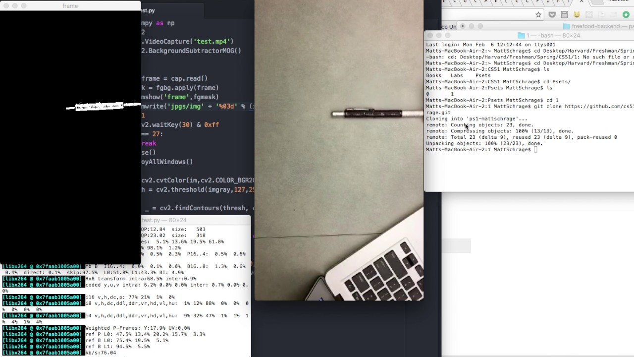 Background Subtraction with OpenCV